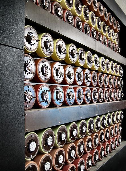 "<a target=""_blank"" href=""http://en.wikipedia.org/wiki/Bombe"">""Bombe""</a> codebreaking machine"