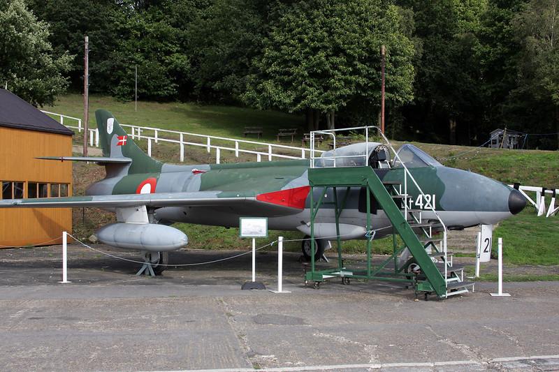 "G-9-443 (E-421) Hawker Hunter F.51 ""Royal Danish Air Force"" c/n 41H/680280 Brooklands/EGLB 09-09-10"