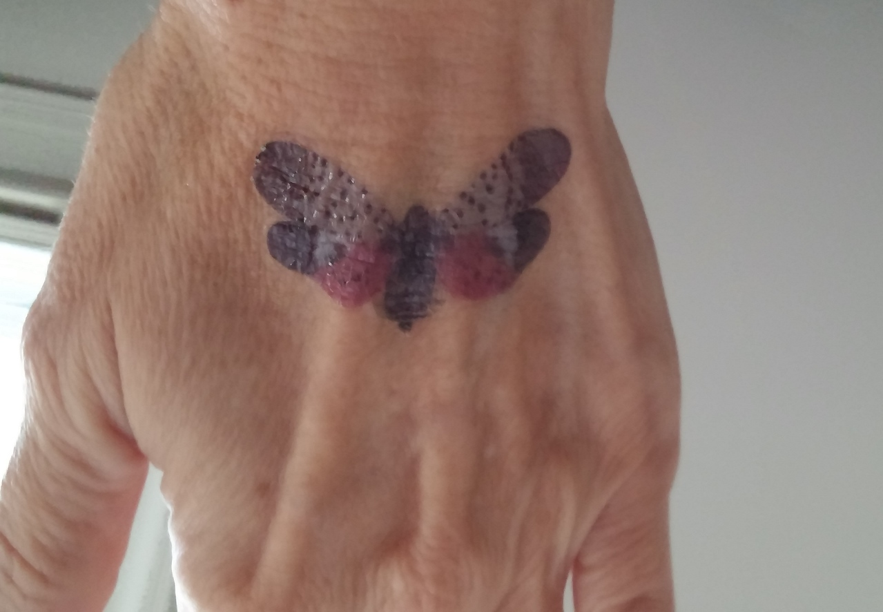 Tattoo on other hand of some special moth!