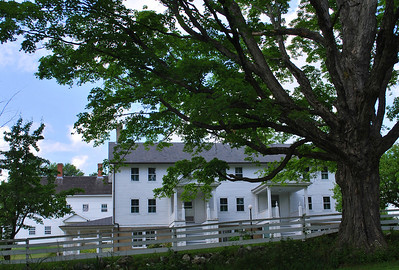 One of the buildings in the Shaker Village