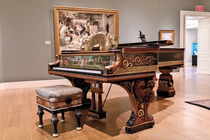Grand Piano designed by Sir Lawrence Alma-tadema