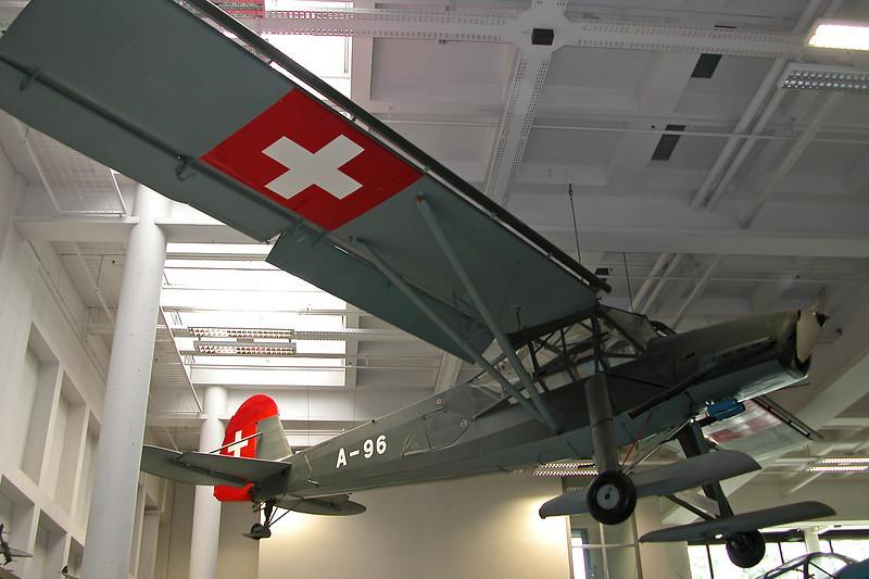 """A-96 Fieseler Fi.156C-3 Storch """"Swiss Air Force"""" c/n 4299 Deutsches Museum/Munich 12-07-05"""