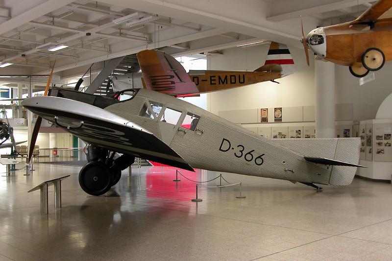 D-366 Junkers F.13fe c/n 2018 Deutsches Museum, Munich 12-07-05