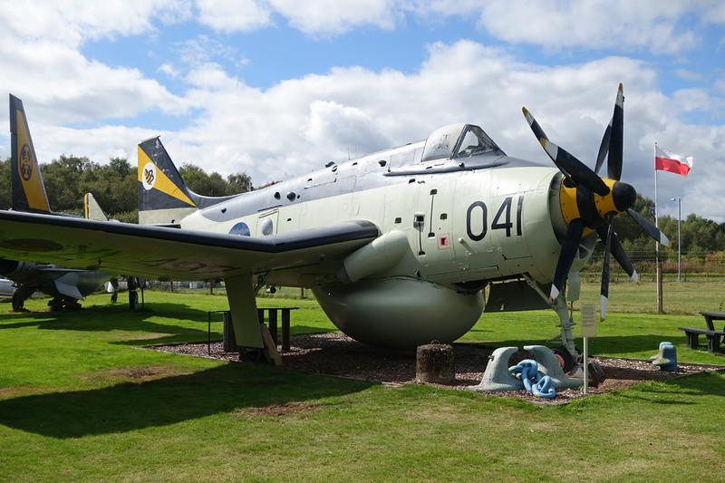"""XL497 (041/R) Fairey Gannet AEW 3 """"Royal Navy"""" c/n F.9456 Dumfries 31-08-14"""