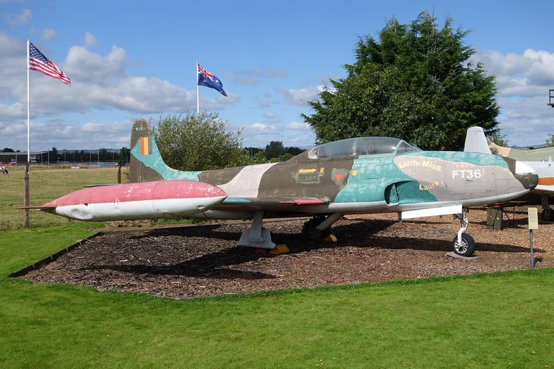 """FT-36 Lockheed T-33Q Shooting Star """"Belgian Air Force"""" c/n 580-9588 Dumfries 31-08-14"""