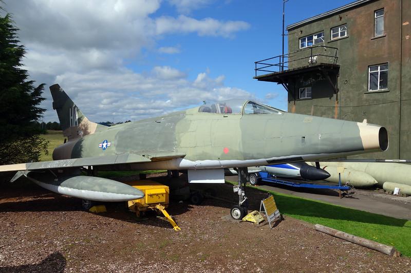 "54-2163 (54-005/HA) North American F-100D Super Sabre ""United States Air Force"" c/n 223-43 Dumfries 31-08-14"