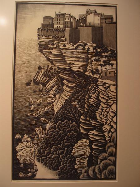 Bonifacio, Corsica, 1928 (woodcut)