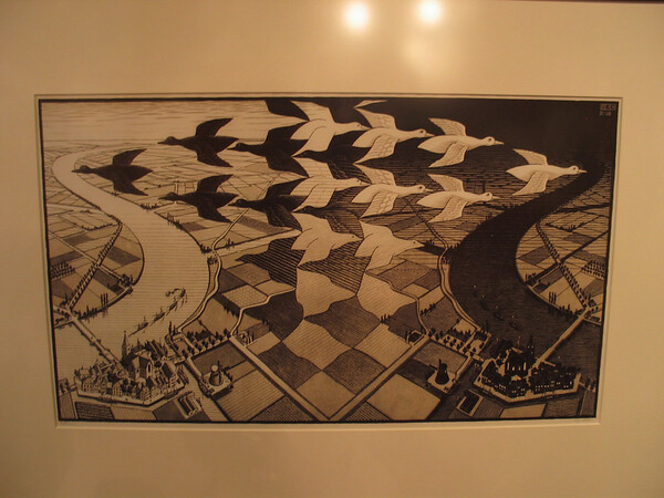 Day and Night, 1938 (woodcut)