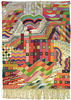 """Wall Hanging  """"Slit Tapestry Red/Green"""""""