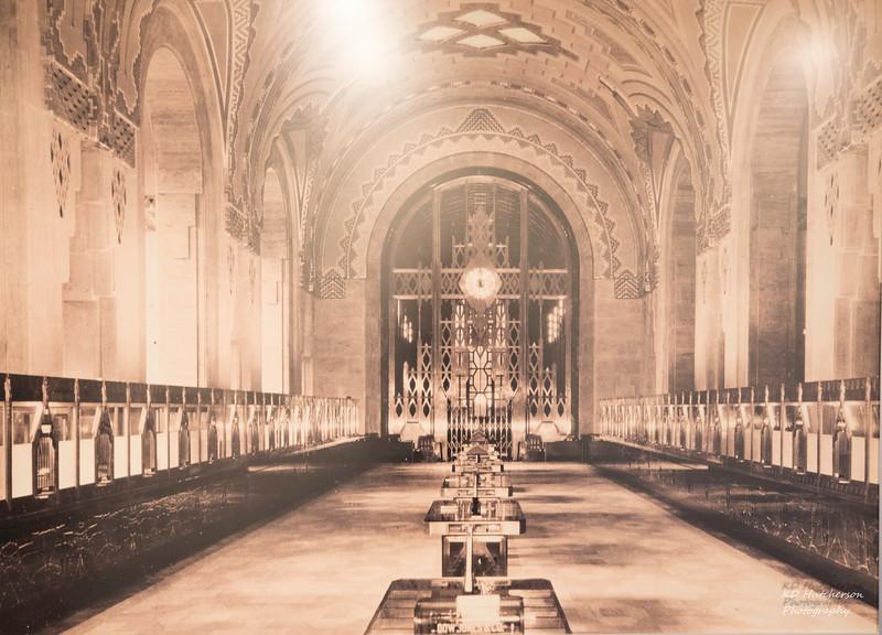 Photo of the original bank lobby