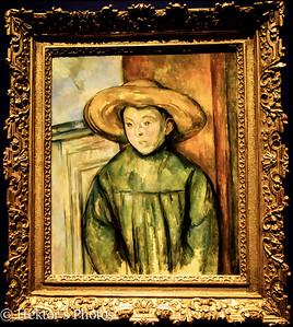 "Paul Cezanne French 1839-1906 ""Boy with a Straw Hat"" 1896"