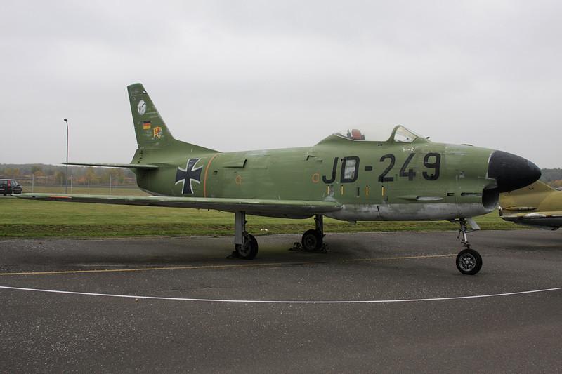 "55-4881 (JD-249) North American F-86K Sabre ""German Air Force"" c/n 221-121 Berlin-Gatow/EDBG/GWW 21-10-09"