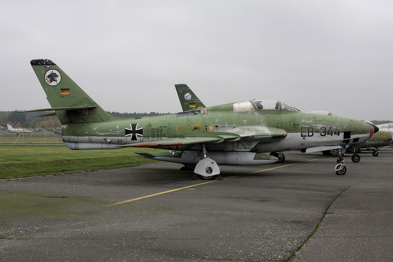 """EB-344 Republic RF-84F Thunderflash """"German Air Force"""" c/n 52-7346 Berlin-Gatow/EDBG/GWW 21-10-09"""