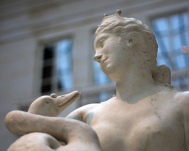 At the Metropolitan Museum of Art. Leda and the Swan Marble Jacques Sarrazin (1592 - 1660) French (Paris) about 1640-50