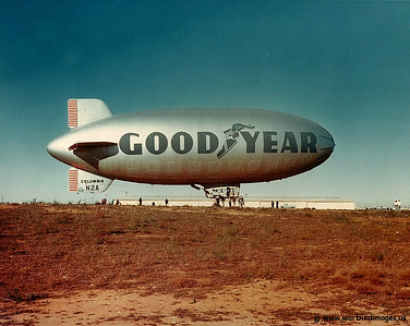Good Year Blimp in Long Beach, CA 1970's