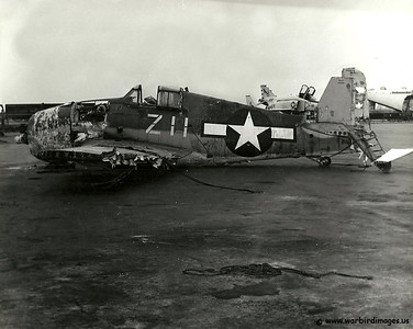 F4 Wildcat recovered from the waters off of San Diego. In the ocean since the 40's recovered in late 70's
