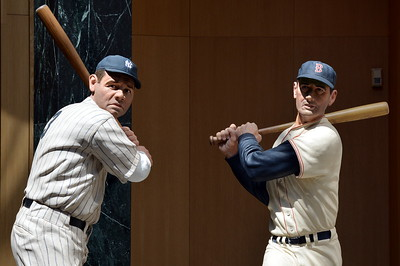 Babe Ruth & Ted Williams sculptures by Sculptor Armand LaMontagne of Sciatuate, Rhode Island in the Hall of Fame Gallery