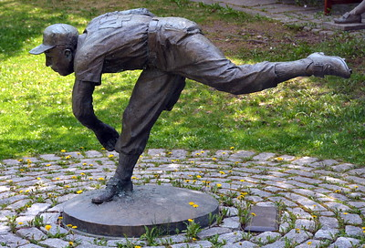 """""""The Pitcher"""" - Johnny Podres - sculpture by Stanley Bliefeld at the National Baseball Hall of Fame & Museum"""