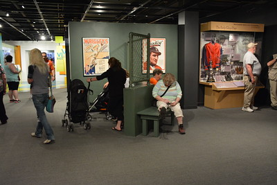 Visitors at  the National Baseball Hall of Fame & Museum
