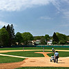 Sunday morning ballgame at Doubleday Field