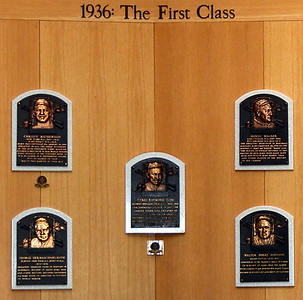 The First Class of Inductees in 1936 at the National Baseball Hall of Fame & Museum