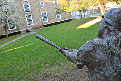 """""""Woman at Bat"""" by Stanley Bliefeld at the National Baseball Hall of Fame & Museum"""