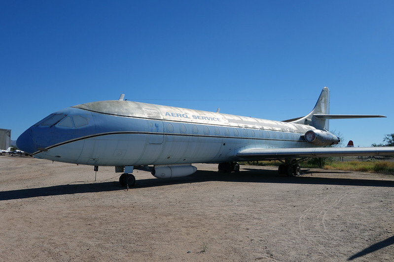 N1001U Sud Aviation SE.210 Caravelle 6R c/n 086 Pima/14-11-16