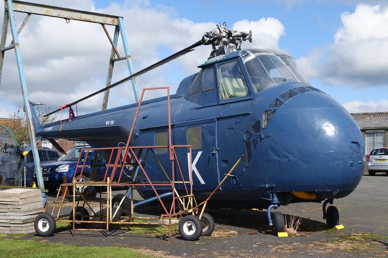 G-BJWY (WV198/K) Sikorsky S-55 Whirlwind HAR.21 c/n 55-289 Carlisle/EGNC/CAX 31-08-14