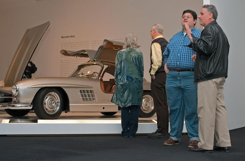<h3>1955 Mercedes-Benz 300 SL Gullwing Coupe</h3> You gotta love this car. The body sculpture and classic styling are really hard to capture in a photo. Standing beside it, the car just radiates build quality and solidity. It has the subtle lines and curves of something that could only have been mass produced, but it has the quality of something that could only have been made by hand.