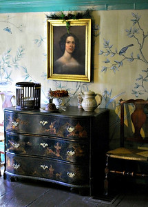 Portrait of Susannah Ingersoll in the Dining Room at the Turner-Ingersoll Mansion