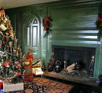 Fireplace in the Hall.