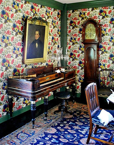 Portrait of Nathaniel Hawthorne in the Hall at the House of the Seven Gables