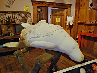 Manatee Carving Exhibit