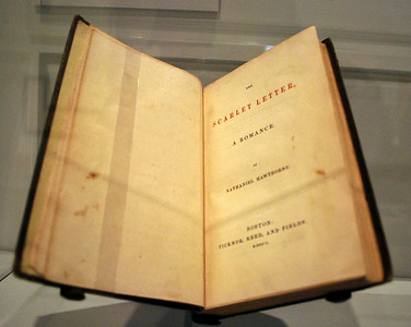 1850 edition of the Scarlet Letter signed by Nathaniel Hawthorne
