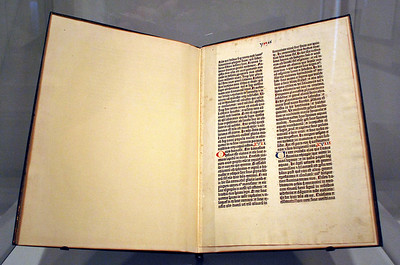 Leaf from the Gutenburg Bible