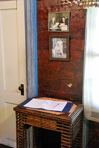 The guestbook in the Paper House.