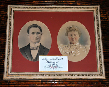 Portraits of Elis F. Stenman and his wife Esther.