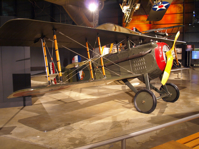 SPAD VII, flown by American volunteers serving with the Lafayette Escadrille in the French air force