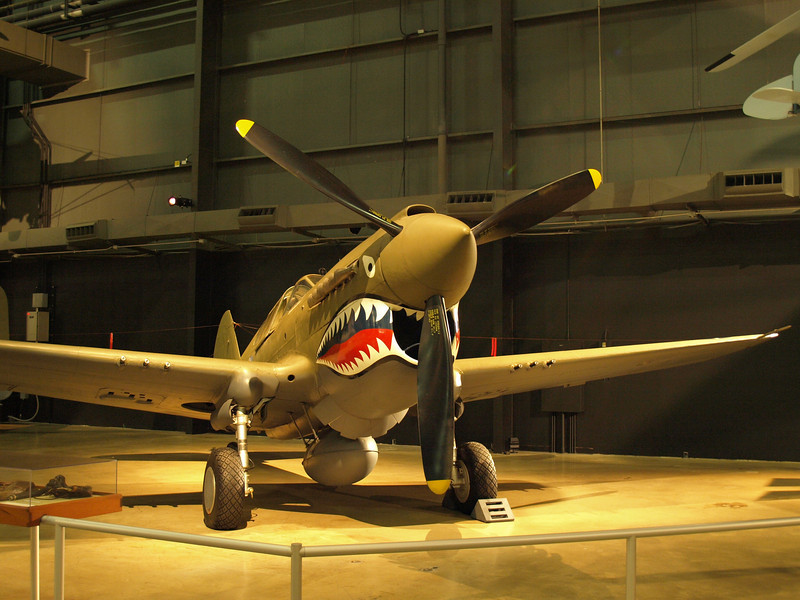 The business end of the P-40