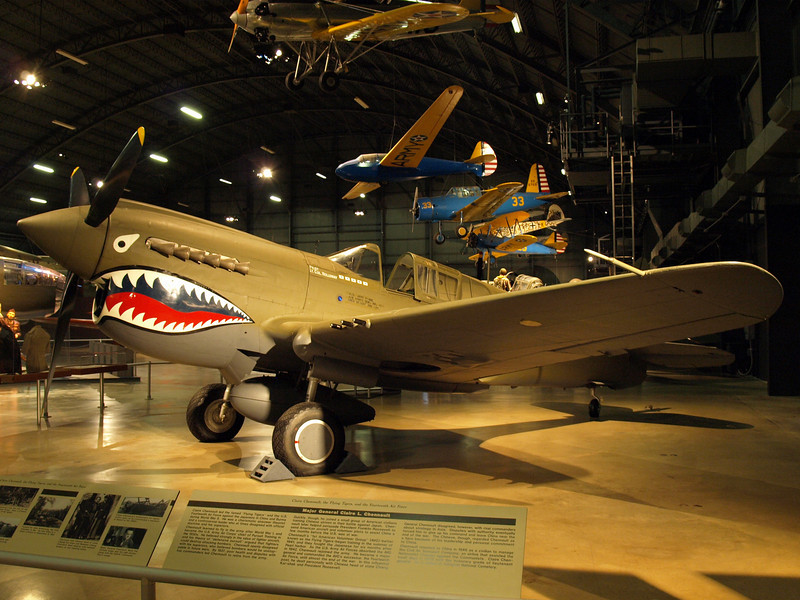 Curtiss P-40 fighter saw service in the Pacific and North African theaters during WW II