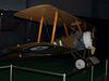 Sopwith Camel  -- the first British fighter aircraft equipped with twin machine guns firing through the propeller, and the aircraft type which shot down more enemy aircraft than any other during World War I.  In service from 1916-1918.