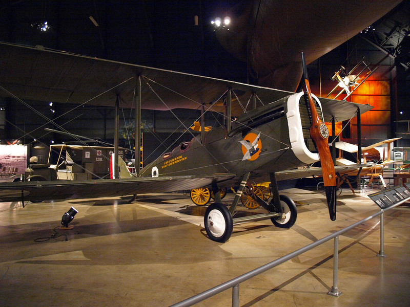 DeHavilland DH-4, the only U.S.-built aircraft to see combat during World War I; used for daylight bombing, artillery spotting, and observation. Taken at ISO 1600