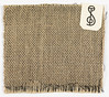 Black warp and white weft woven fabric with cellophane plain weave face on the front and burlap type plain weave face on the back.<br /> 1936<br /> <br /> Warp x Weft: 17.5 x 20 cm (6 7/8 x 7 7/8 in.)<br /> <br /> Medium: cellophane, jute (?) Technique: two interconnected plain weave structures plain weave