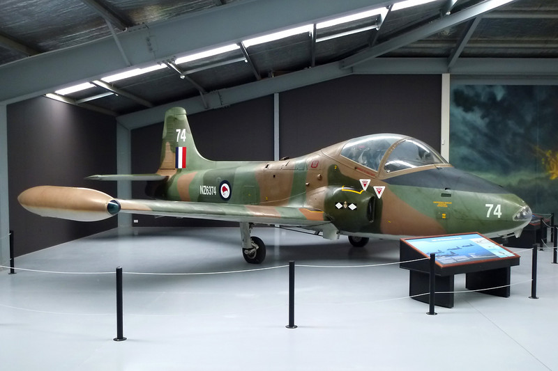 "NZ6374 (74) BAC Strikemaster Mk.88 ""Royal New Zealand Air Force"" c/n PS.344 Wanaka/NZWF/WKA 24-03-12"