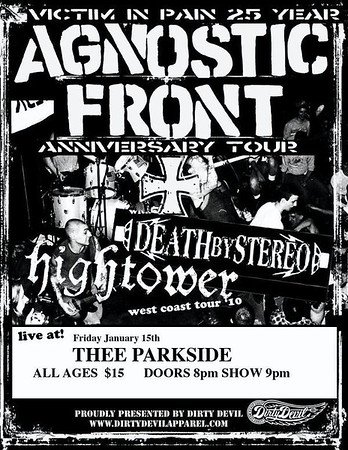 agnostic front @thee parkside 01/15/2010