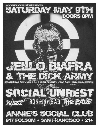 jello Biafra - social unrest - ribzy @annies social club 05/09/2009