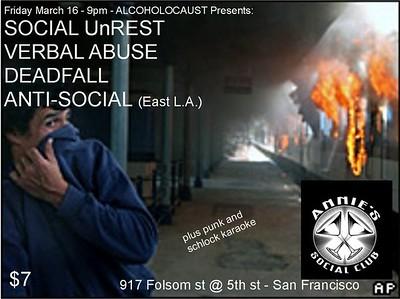 social unrest @annies social club 03/2007