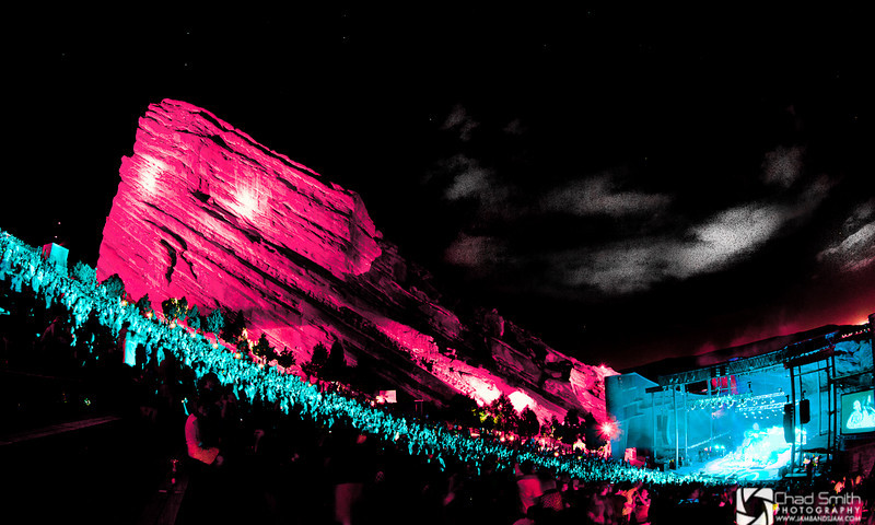 Red Rocks, White, and Blue