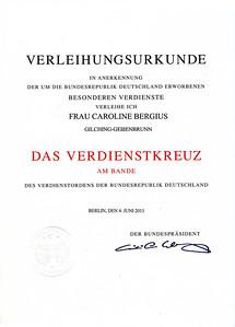 Urkunde  16. November 2011