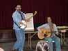 Performing with Peggy Lynn at her Songwriting Class for Saranac Lake area Girl Scouts - photo by Rebecca